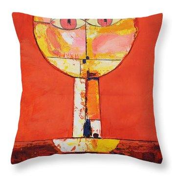 Oil Msc 020 Throw Pillow