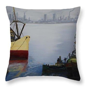 Oil Msc 025  Throw Pillow