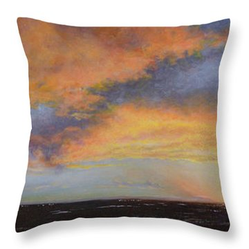 Oil Painting When The Sky Turns Color Throw Pillow