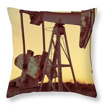 Oil Pump Throw Pillow