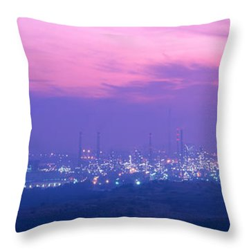 Oil Refinery, Andalucia, Spain Throw Pillow