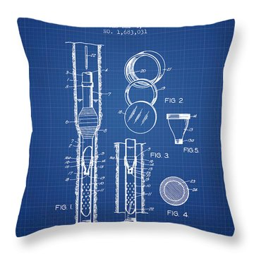 Oil Well Sand Tester Patent From 1928 - Blueprint Throw Pillow