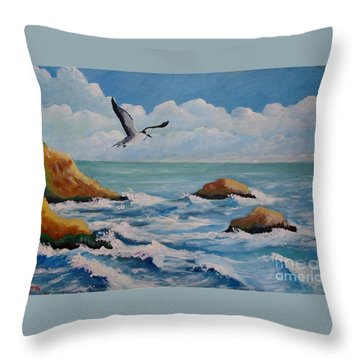 Oiseau Solitaire Throw Pillow