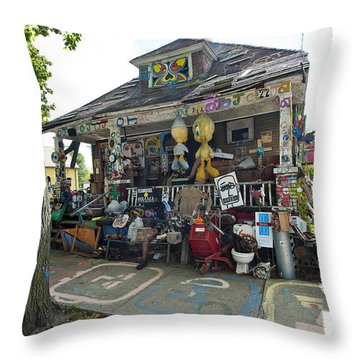 Oj House Throw Pillow