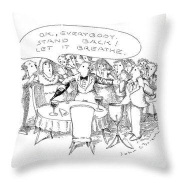 O.k., Everybody.  Stand Back! Let It Breathe Throw Pillow