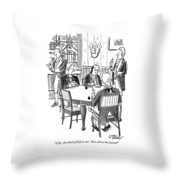 O.k., The Third Of July Is Out.  How Throw Pillow