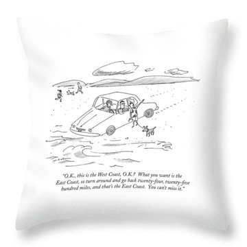 O.k., This Is The West Coast, O.k.?  What Throw Pillow