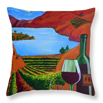 Okanagan Wine Country Throw Pillow