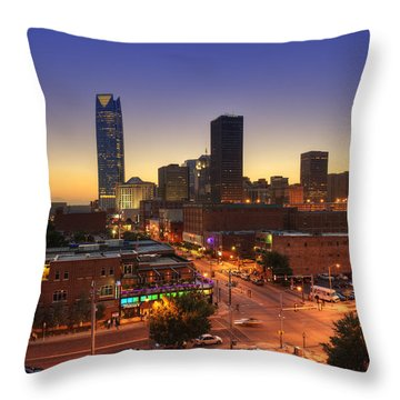 Oklahoma City Nights Throw Pillow