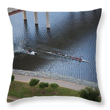 Oklahoma City Row Team Throw Pillow by Cooper Ross