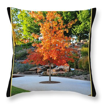Oklahoma Fall Throw Pillow by Randi Grace Nilsberg