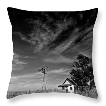 Throw Pillow featuring the photograph Oklahoma Farm by Christopher McKenzie
