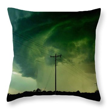 Oklahoma Mesocyclone Throw Pillow