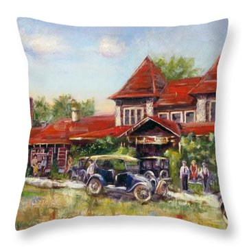 Oklahoma Row Throw Pillow