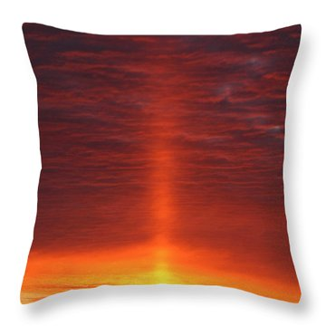 Throw Pillow featuring the photograph Oklahoma Sunrise by Christopher McKenzie