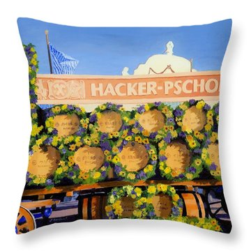Throw Pillow featuring the painting Oktoberfest by Lynne Reichhart