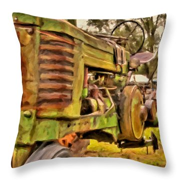 Ol' John Deere Throw Pillow
