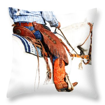 Olathes Throw Pillow by Karen Slagle