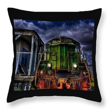 Throw Pillow featuring the photograph Old 6139 Locomotive by Thom Zehrfeld