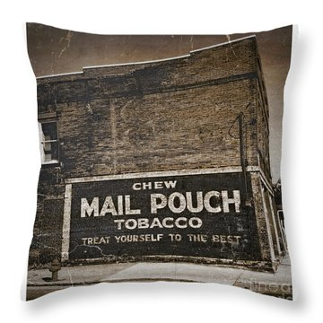 Old Ad Photo V Throw Pillow