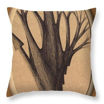 Old Age Lies In Wood Throw Pillow