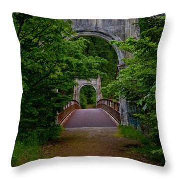 Throw Pillow featuring the photograph Old Alexandra Bridge by Rod Wiens