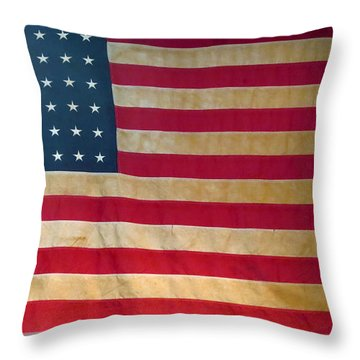 Old American 48 State Flag.  Throw Pillow