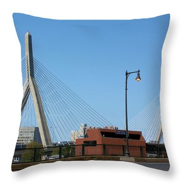 Old And New Boston Throw Pillow by Kristin Elmquist