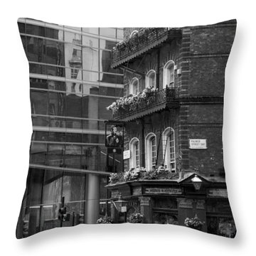 Throw Pillow featuring the photograph Old And New by Chevy Fleet