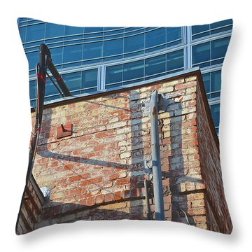 Old And New Los Angeles Throw Pillow by Bill Owen