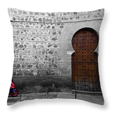 Old And New Toledo Throw Pillow