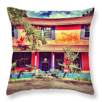 Old And Orange Throw Pillow