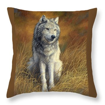 Old And Wise Throw Pillow by Lucie Bilodeau