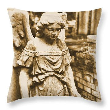 Throw Pillow featuring the photograph Blessed Angel   by Nadalyn Larsen