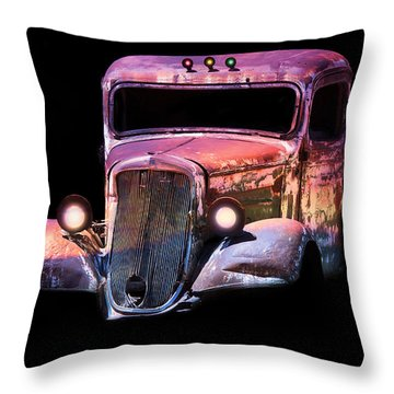 Throw Pillow featuring the photograph Old Antique Classic Car by Gunter Nezhoda