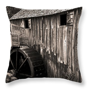 Old Appalachian Mill Throw Pillow by Paul W Faust -  Impressions of Light