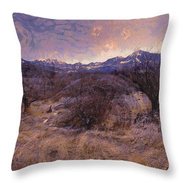 Old Apple Orchard Paonia Colorado Throw Pillow