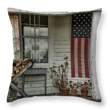 Old Apple Orchard Porch Throw Pillow