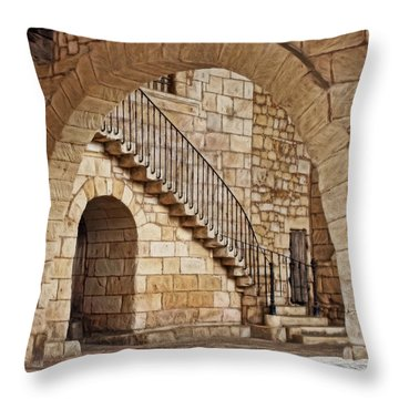 Old Archway Throw Pillow