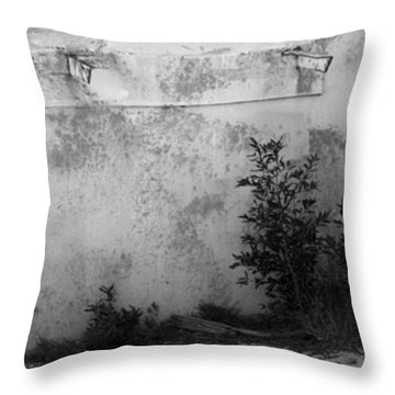 Throw Pillow featuring the photograph Old Army Lookout by Miroslava Jurcik