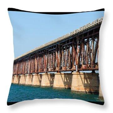Old Bahia Honda Bridge 2 Throw Pillow