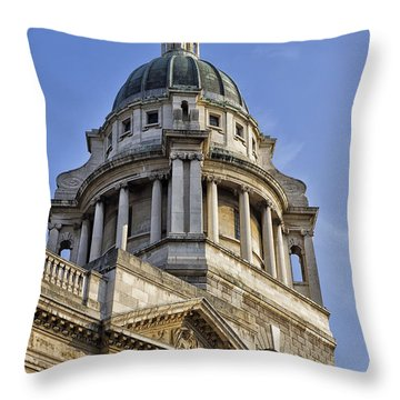 Throw Pillow featuring the photograph Old Bailey Criminal Court by Shirley Mitchell