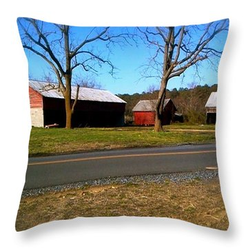 Old Barn Throw Pillow by Amazing Photographs AKA Christian Wilson