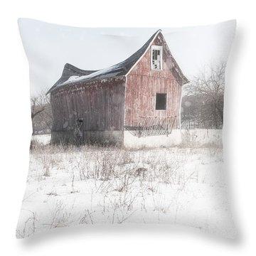 Old Barn - Brokeback Shack Throw Pillow by Gary Heller