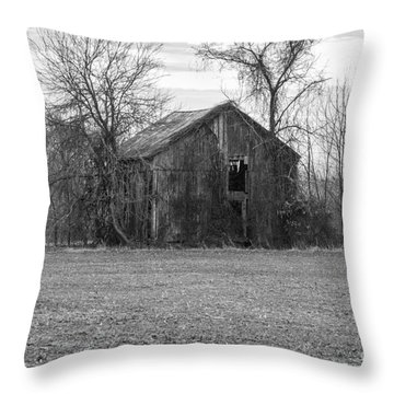 Throw Pillow featuring the photograph Old Barn by Charles Kraus