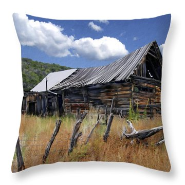 Old Barn Las Trampas New Mexico Throw Pillow