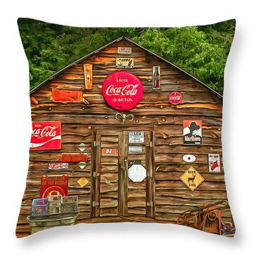 Old Barn Throw Pillow by Marion Johnson