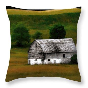 Old Barn Near Buckhannon Throw Pillow