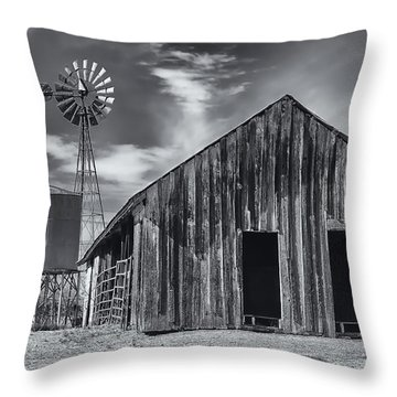 Old Barn No Wind Throw Pillow by Mark Myhaver