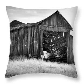 Old Barn Throw Pillow by Ron Roberts